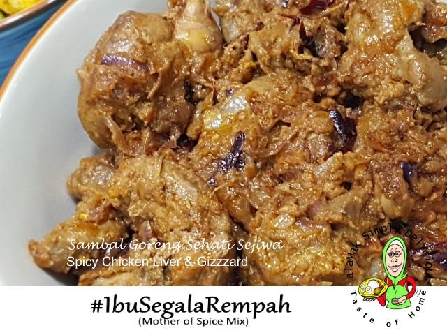 Sambal Goreng Sehati Sejiwa (Spicy Liver & Gizzard)